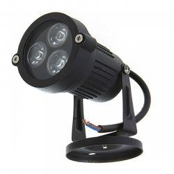 Светильник LED садовый Lemanso 3LED 3W 6500K чёрный LM978