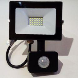 Прожектор LED Lemanso 20w 6500K IP65 1600LM 175-265V с датчиком чёрный LMPS27