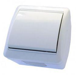 Выключатель RIGHT HAUSEN BERTA 1-й внеш. белый IP54 HN-013011
