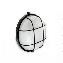 Светильник настенный RIGHT HAUSEN круг 60W с реш. черный HN-112020