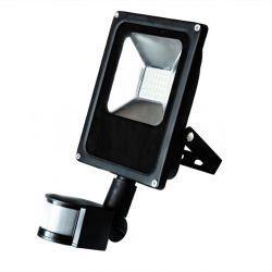 Прожектор RIGHT HAUSEN STANDARD LED 20W 6500K IP65 черный с датчиком движения PR HN-191062N