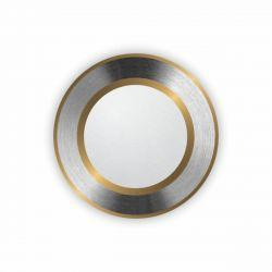 Светильник встраиваемый LED PANEL RIGHT HAUSEN круг CLASSIC 5W 4000K IP20 хром / золото HN-272040
