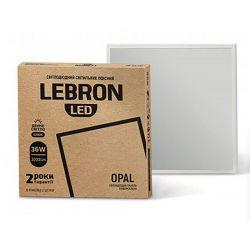 Светодиодная панель LEBRON LED универсальная L-LPU-ОPAL 36W 595х595мм 6200K 3000LM 120° (00-16-44)