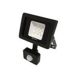 Светодиодный прожектор Velmax LED 10Вт 6200K 900Lm 220V IP65 с датчиком движения (00-25-11) черный