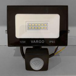 Светодиодный прожектор VARGO 10Вт 220V 6500K с датчиком движения (V-330310)