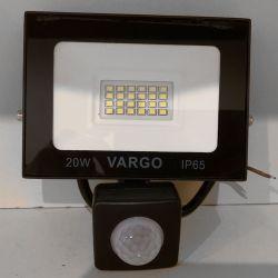 Светодиодный прожектор VARGO 20Вт 220V 6500K с датчиком движения (V-330320)