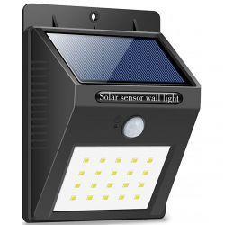 Светильник уличный настенный VARGO на солнечной батарее с датчиком движения 6W 20LED SMD (VS-107254)
