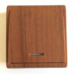 Выключатель 1 скр. с подсв. (Бук) VIKO (93000619)