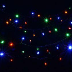 Гирлянда внешняя DELUX String 200LED 10м. разноцветная, черный провод