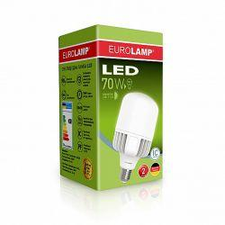 Светодиодная лампа EUROLAMP сверхмощная 70W E40 6500K LED-HP-70406