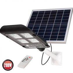 Светильник консольный на солнечной панели LED 200W 6400K 2050Lm черный LAGUNA-200
