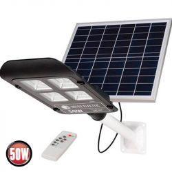 Светильник консольный на солнечной панели LED 50W 6400K 950Lm черный LAGUNA-50