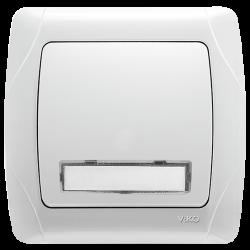 Кнопка звонка с подсв. и полем для надписи VIKO (90552027)