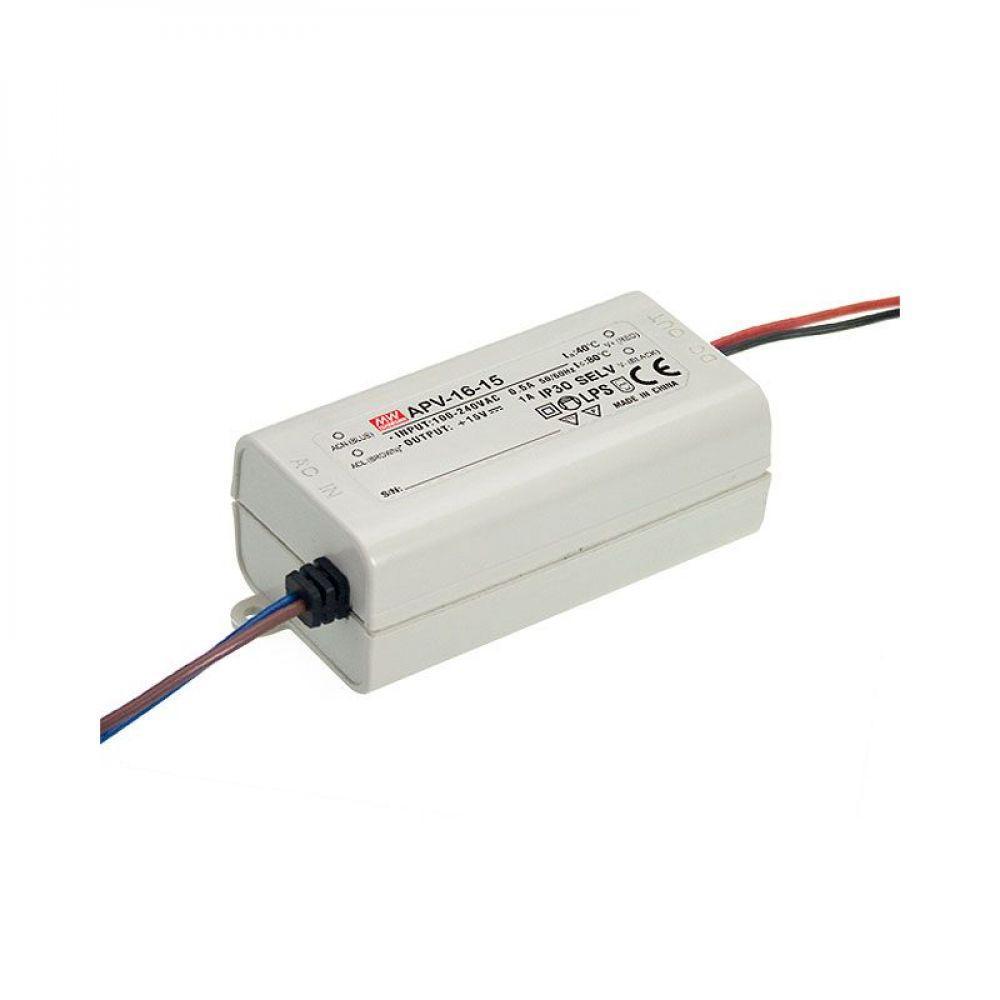 Драйвер Mean Well для светодиодов (LED) 15 Вт, 12V, 1.25 А APV-16-12