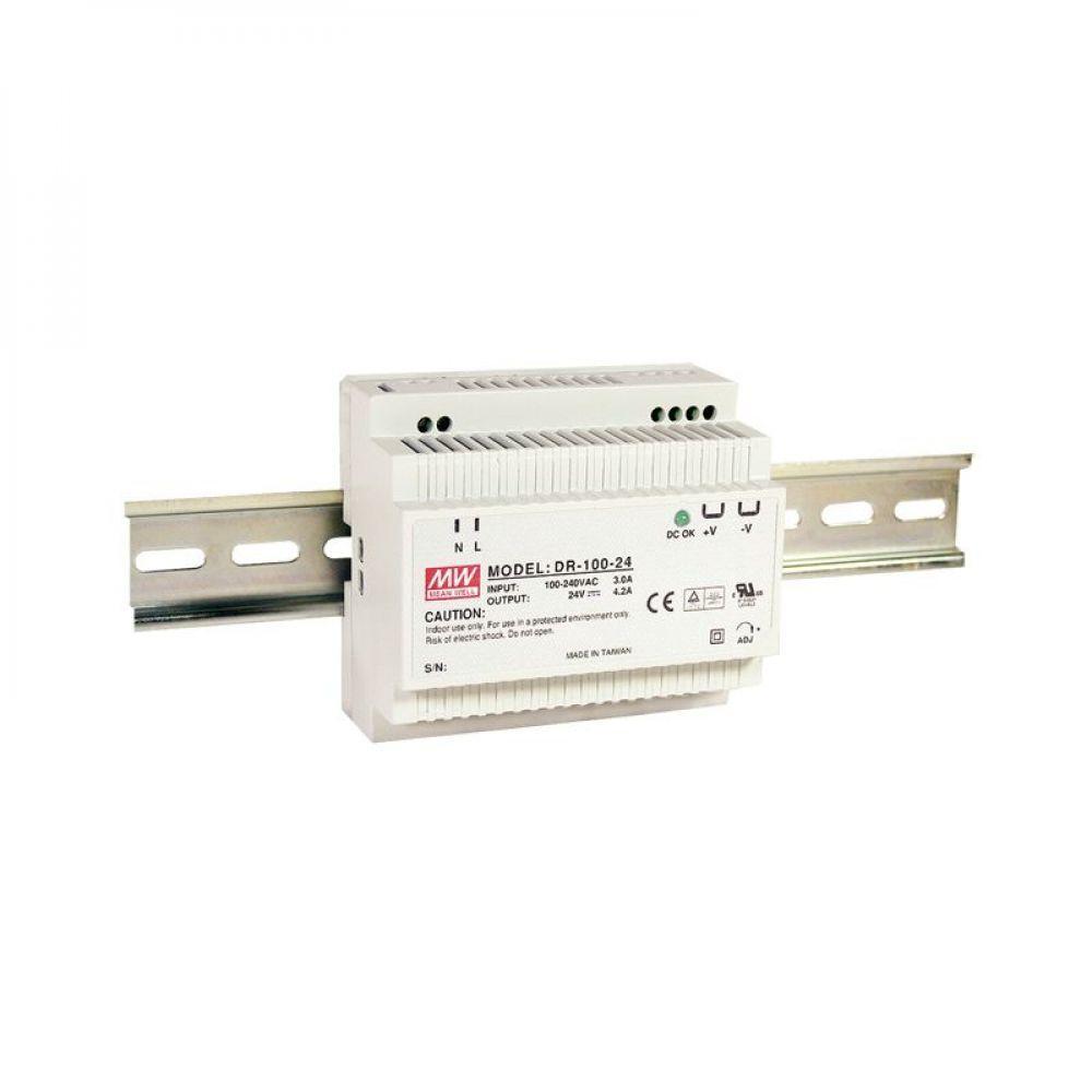 Блок питания Mean Well На DIN-рейку 90 Вт, 12V, 7.5 А DR-100-12