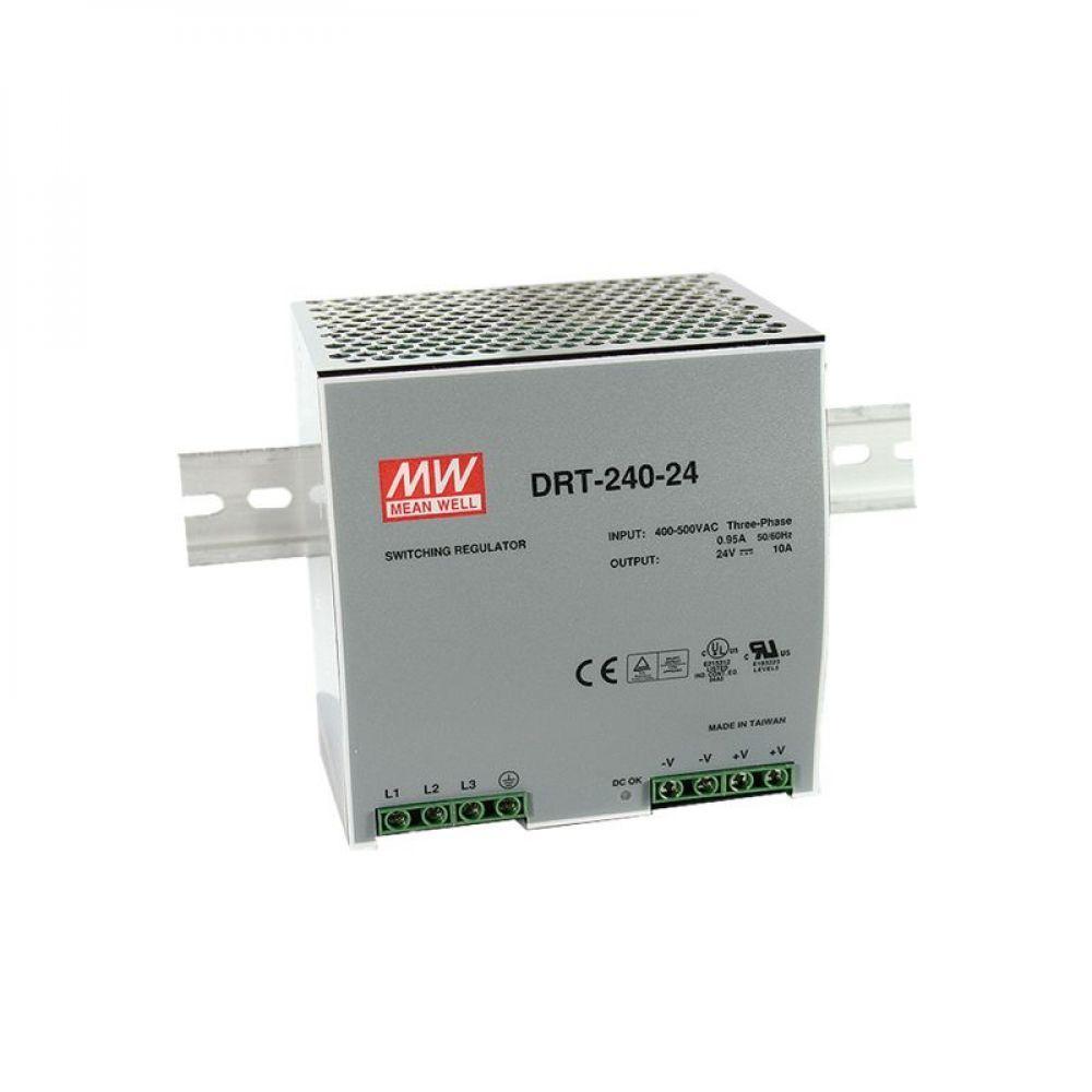 Блок питания Mean Well На DIN-рейку 240 Вт, 24V, 10 А DRT-240-24