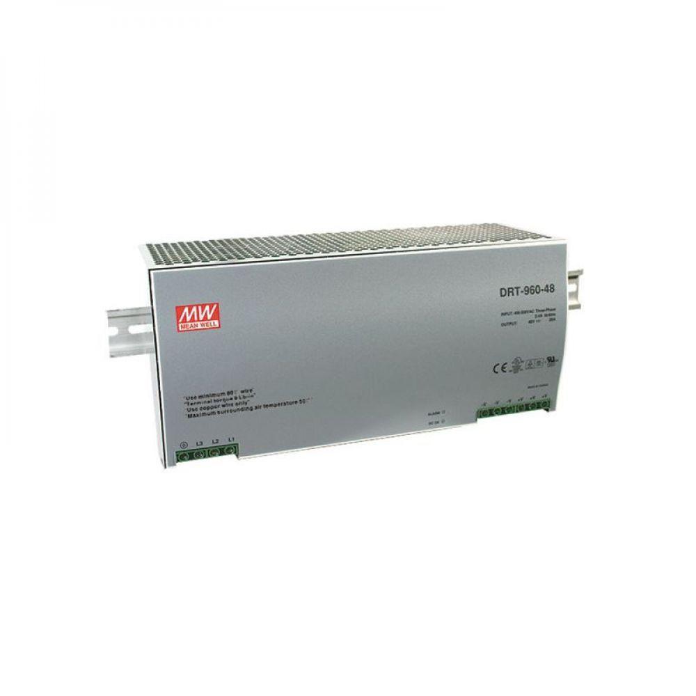 Блок питания Mean Well На DIN-рейку 960 Вт, 24V, 40 А DRT-960-24