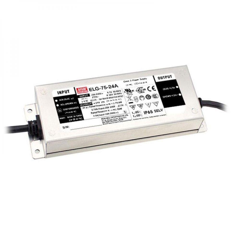 Драйвер Mean Well для светодиодов (LED) 60 Вт 24V 3,15 А  ELG-75-24B
