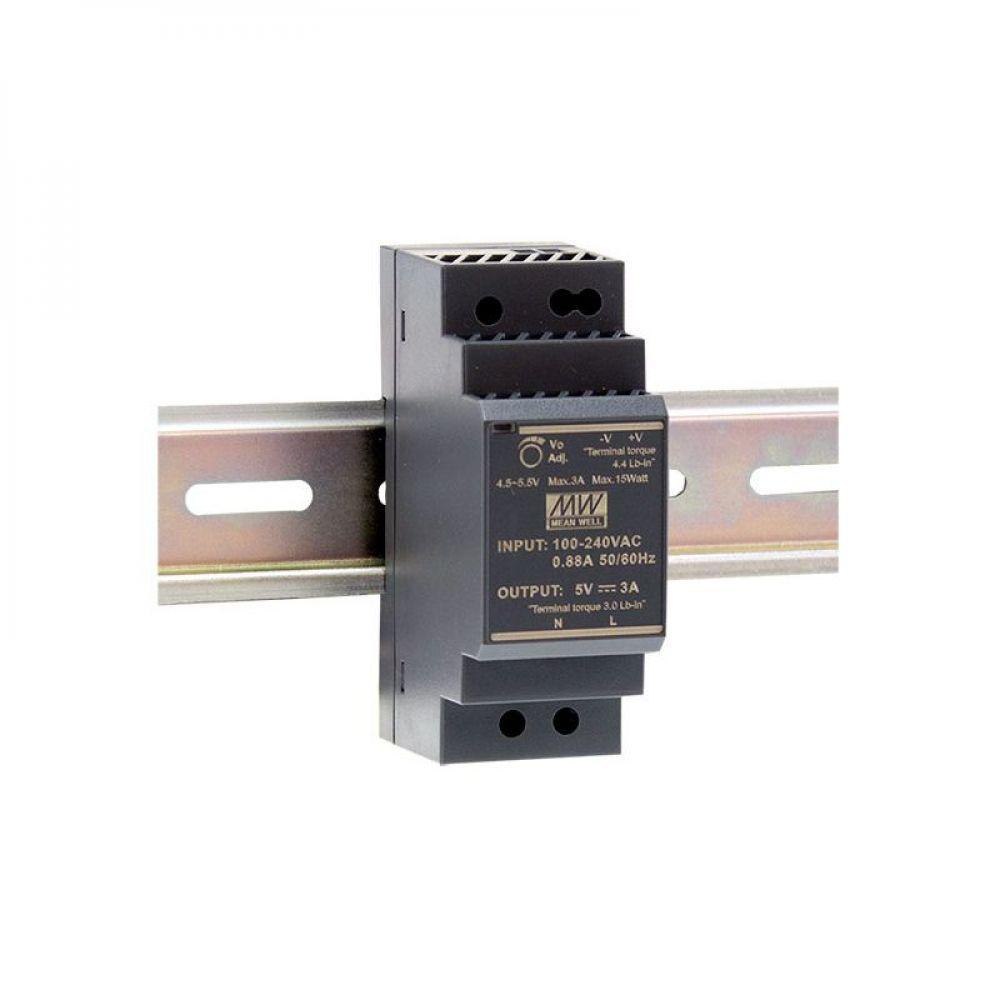 Блок питания Mean Well На DIN-рейку 15 Вт 5V 3 А  HDR-30-5