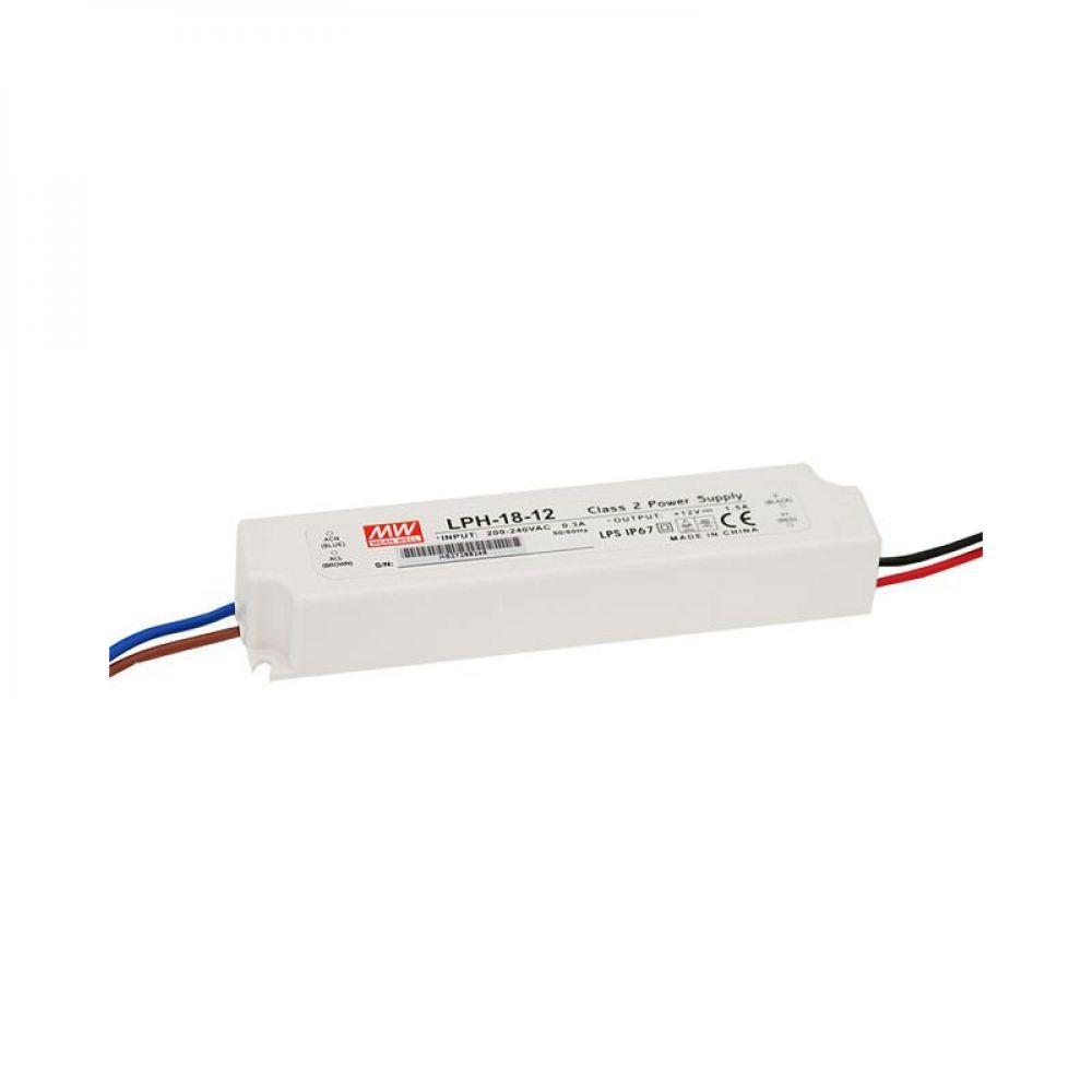 Драйвер Mean Well для светодиодов (LED) 18 Вт, 12V, 1.5 А LPH-18-12