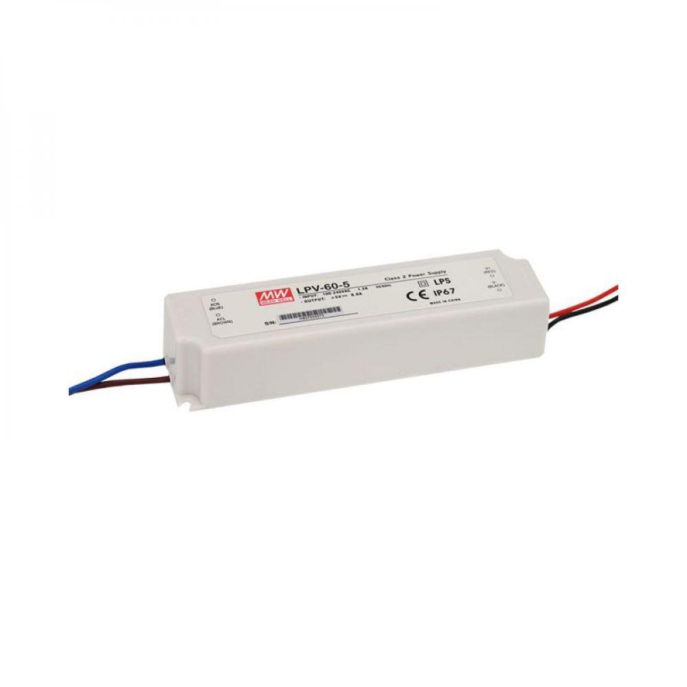 Драйвер Mean Well для светодиодов (LED) 40 Вт, 5V, 8 А LPV-60-5