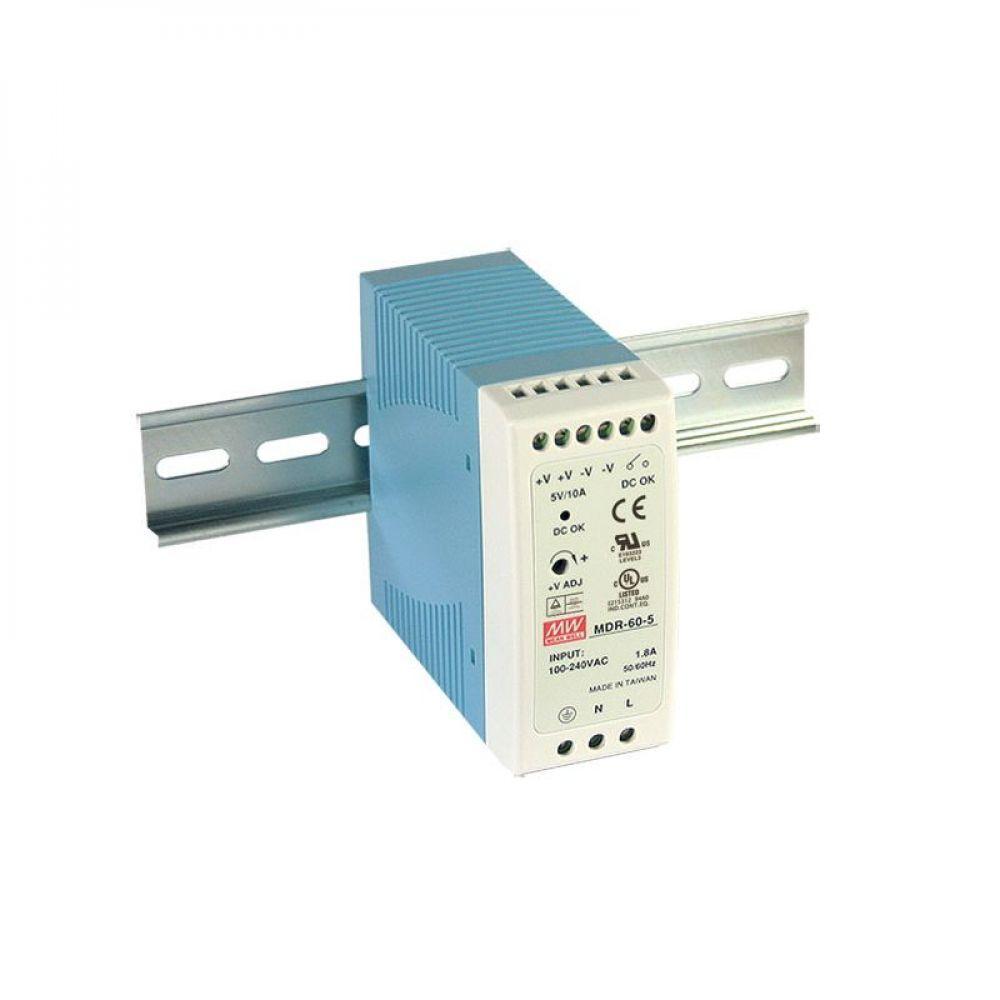 Блок питания Mean Well На DIN-рейку 50 Вт, 5V, 10 А MDR-60-5