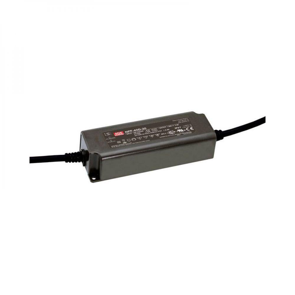 Драйвер Mean Well для светодиодов (LED) 40,32 Вт 48V 0,84 А NPF-40D-48