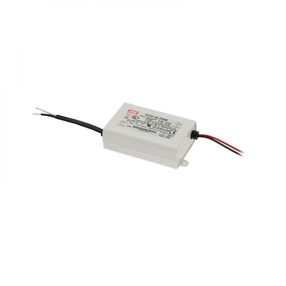 Драйвер Mean Well для светодиодов (LED) 16.8 Вт, 12~16V, 1050 мА PCD-16-1050B