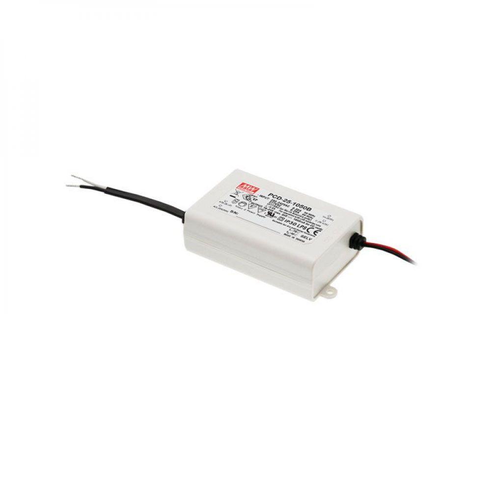 Драйвер Mean Well для светодиодов (LED) 20.3 Вт, 40~58V, 350 мА PCD-25-350B