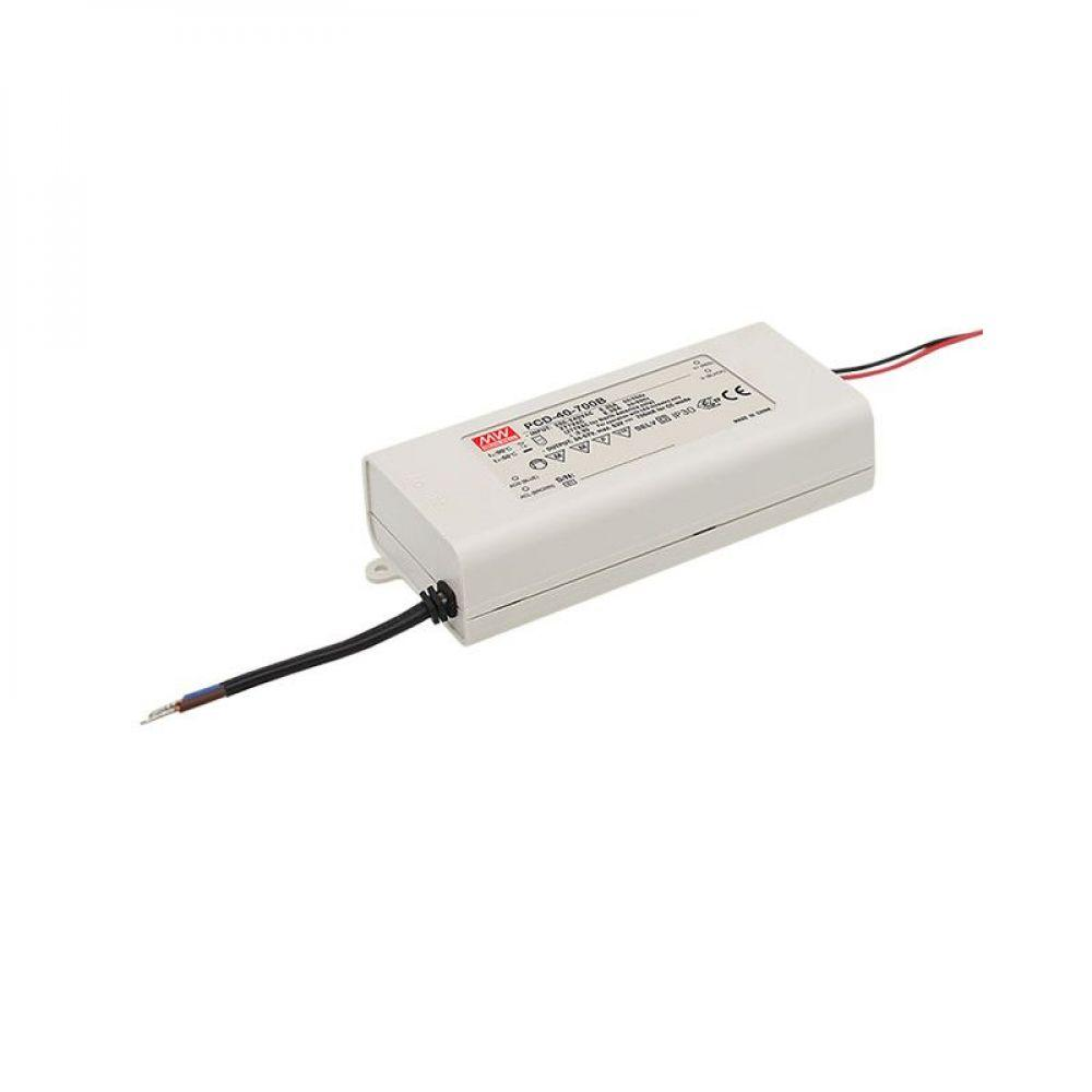 Драйвер Mean Well для светодиодов (LED) 39.9 Вт, 34~57V, 700 мА PCD-40-700B