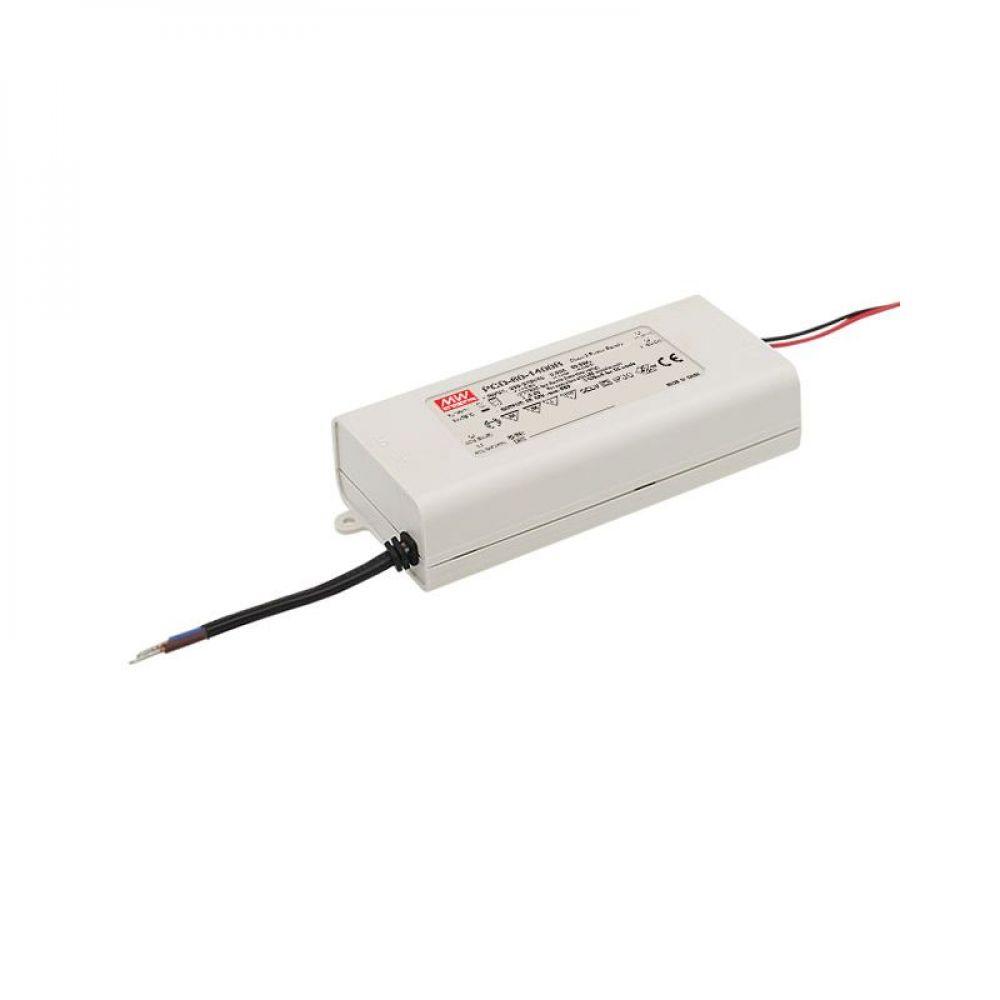 Драйвер Mean Well для светодиодов (LED) 60.2 Вт, 25~43V, 1400 мА PCD-60-1400B