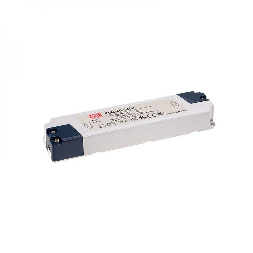 Драйвер Mean Well для светодиодов (LED) 40.6 Вт, 15~29V, 1.4 А PLM-40-1400