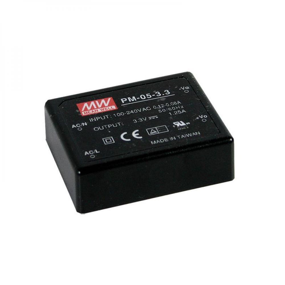 Блок питания Mean Well На плату 4.95 Вт, 15V, 0.33 А PM-05-15