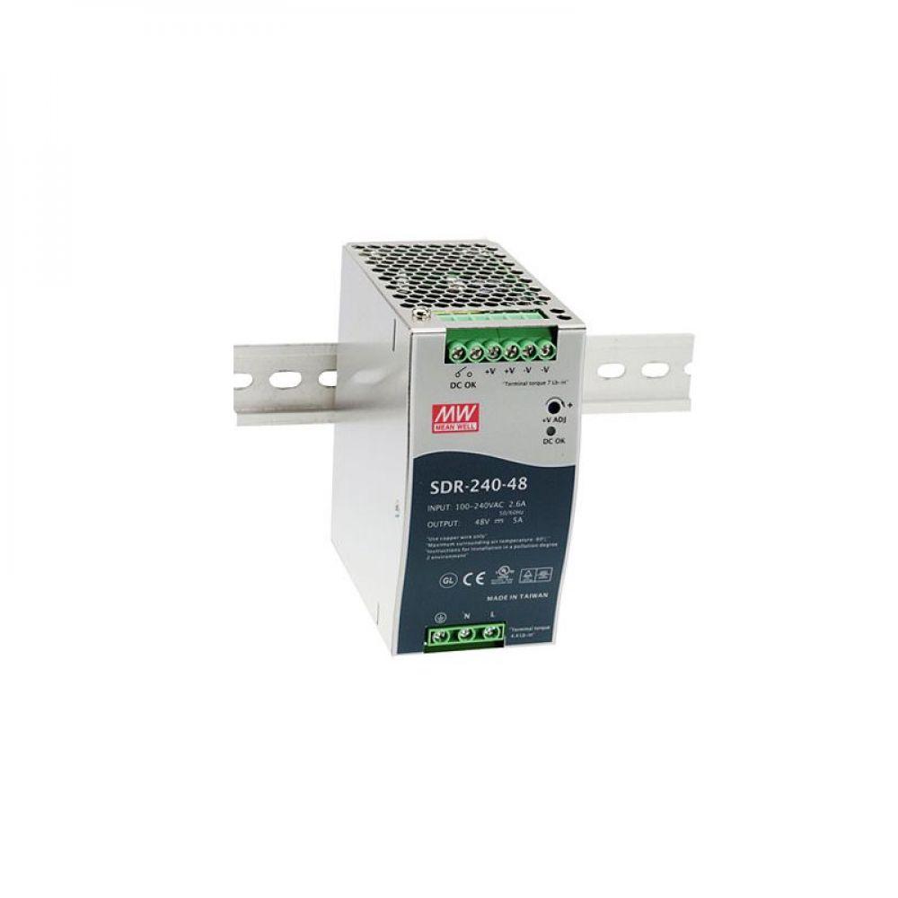 Блок питания Mean Well На DIN-рейку 240 Вт, 24V, 10 А SDR-240-24