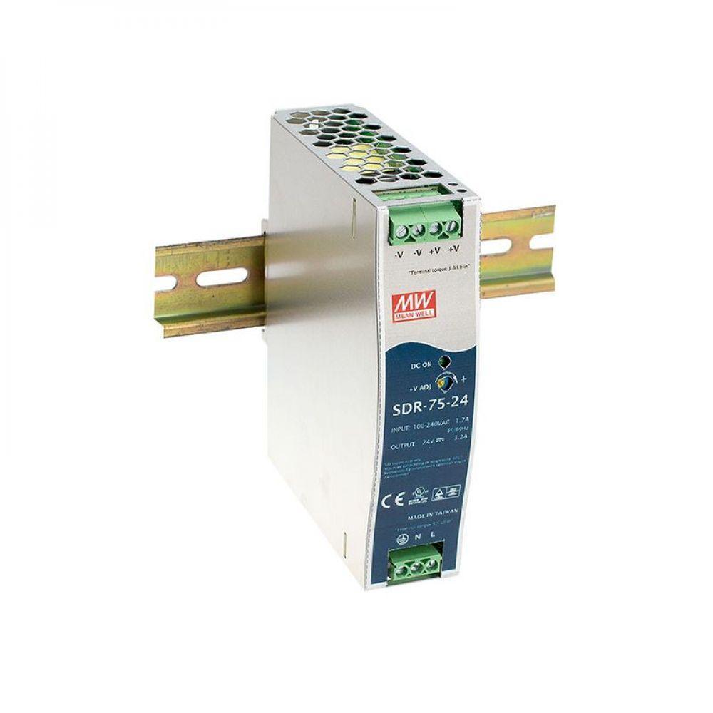 Блок питания Mean Well На DIN-рейку 76.8 Вт, 24V, 3.2 А SDR-75-24
