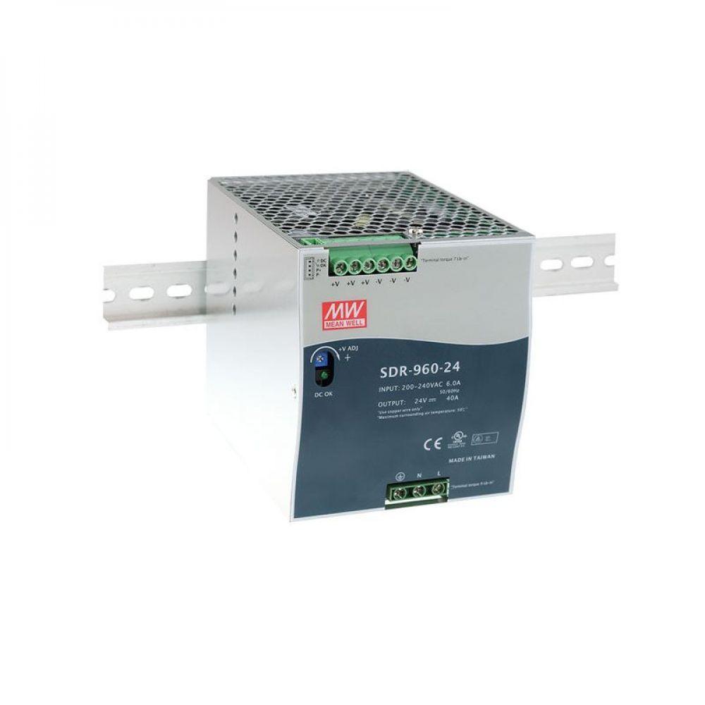 Блок питания Mean Well На DIN-рейку 960 Вт, 24V, 40 А SDR-960-24