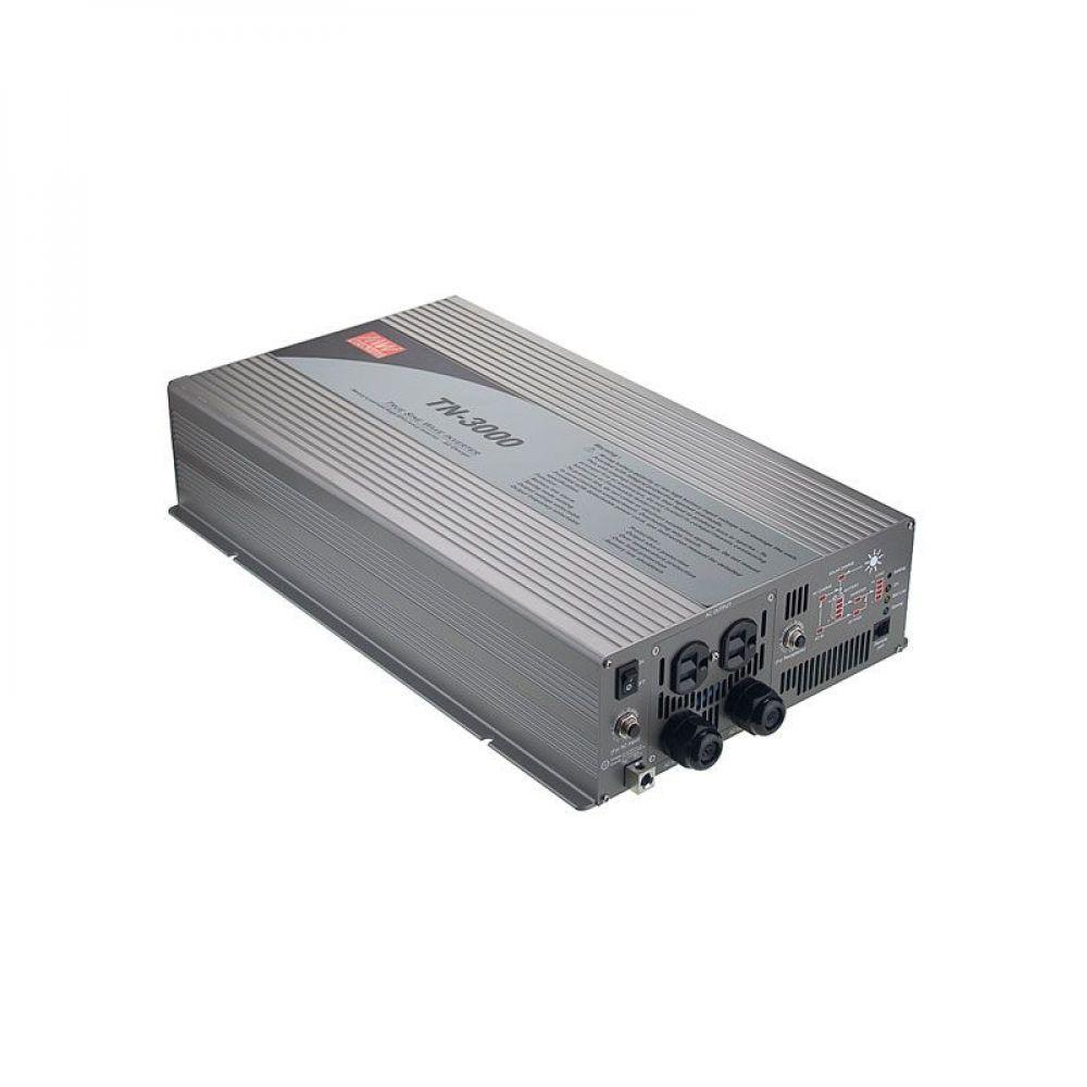 Инвертор Mean Well с функцией UPS 3000 Вт, 230V (DC/AC Преобразователь) TN-3000-248B