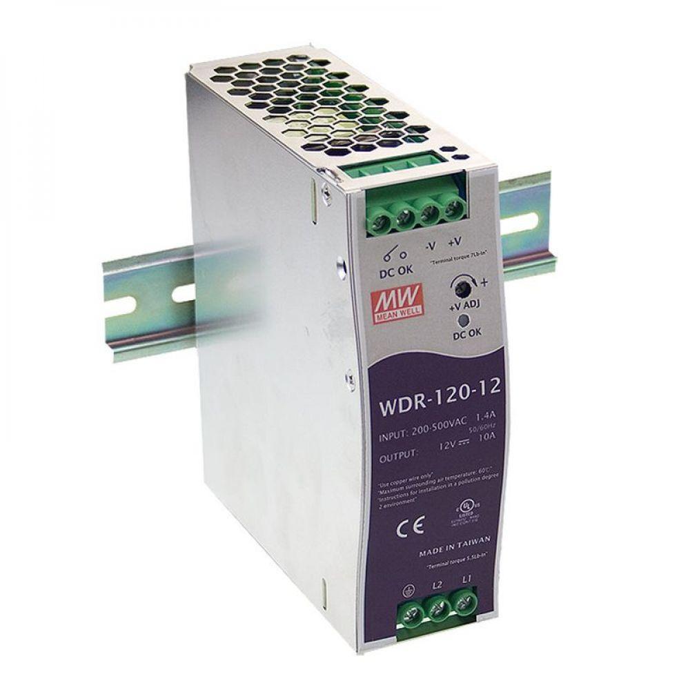 Блок питания Mean Well На DIN-рейку 120 Вт, 24V, 5 А WDR-120-24