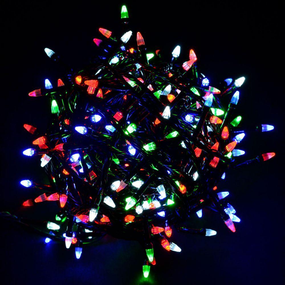 "Гирлянда ""Проводная"" свеча 500Led, черный шнур (арт.LS-500W-2)"