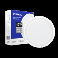 Світлодіодний світильник Global 12W круг для ЖКХ (1-GBH-1250-C)