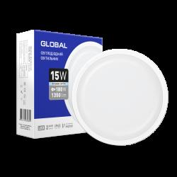 Світлодіодний світильник Global 15W круг для ЖКХ (1-GBH-1550-C)
