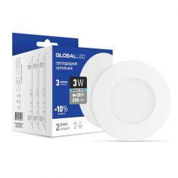 Панель (мини) GLOBAL LED SPN 3W яркий свет (3шт. в уп) (3-SPN-002)