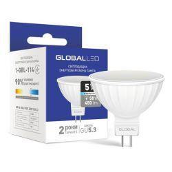 LED лампа GLOBAL MR16 5W яскраве світло 220V GU5.3 (1-GBL-114)