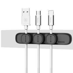 Держатель для кабеля магнитный USB BASEUS Black