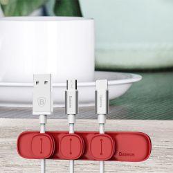 Держатель для кабеля магнитный USB BASEUS Red