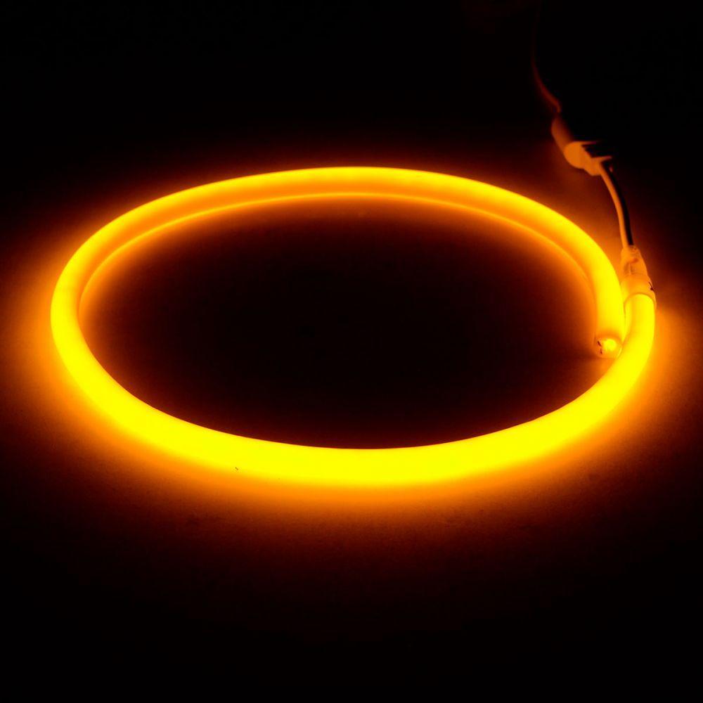 Світлодіодний неон круглий SMD 2835 120д.м. (IP67) 220V (VPN-2835120220R-Y) жовтий