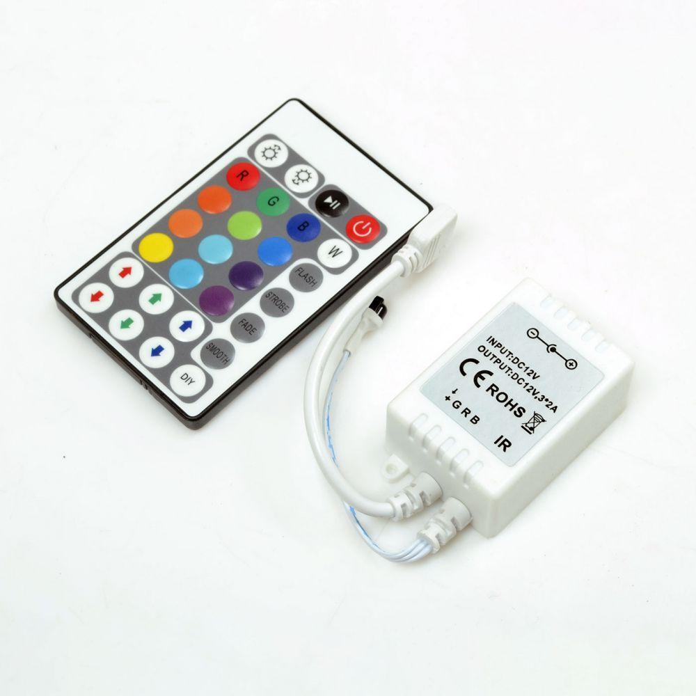 RGB-контролер IR інфрачервоний 6А (28 кнопок на пульті) Venom