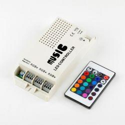 RGB-контроллер Venom музыкальный с IR ДУ (24 кнопки на пульте)