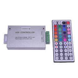 RGB-контроллер Ledstorm Alluminium IR инфракрасный 12А (44 кнопки на пульте)
