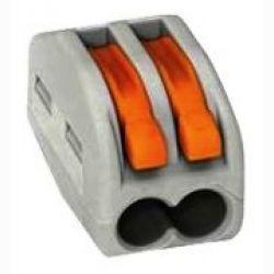 2х контактный клемник для быстрого монтажа 1 контакта (арт. 222-412 WAGO)